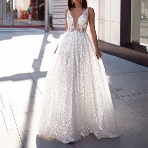 Long Dresses Women Formal Party Ball Gown Dress Sexy  V-neck Long Dresses High-end Dresses Backless Long Dress vestidos de veran