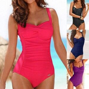 One Piece Plus Size Swimsuit Women Red Slimming Swimwear Sexy Classic Swimming Suit Momokini Summer Beach Bathing Suit