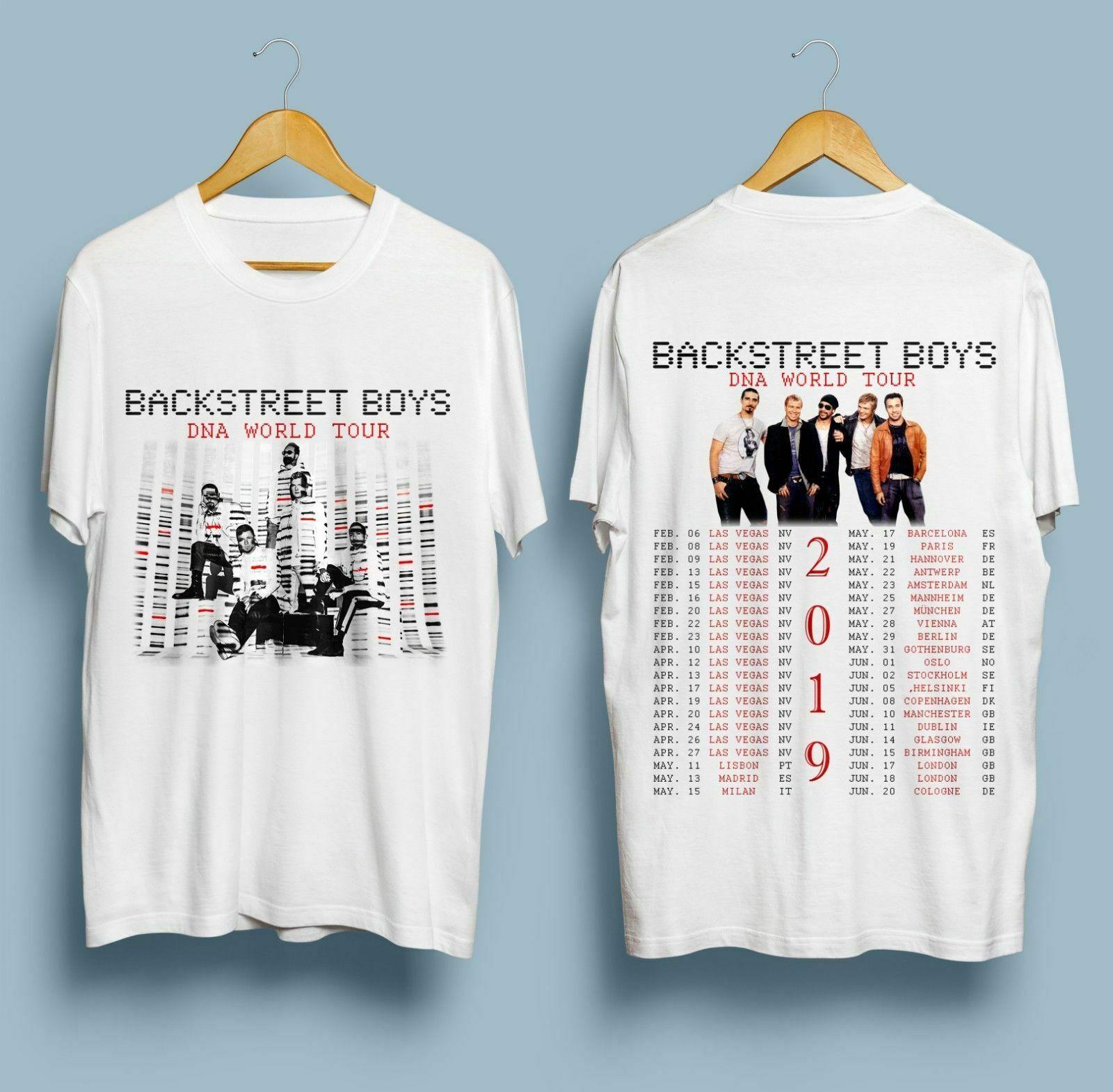 RARE ITEMS Backstreet Boys Las Vegas & DNA World Tour 2020 T-SHIRT S-3XL Fashion T Shirt Hipster Cool Tops Tee Plus Size