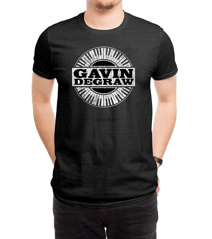 LILILOV-camisetas para hombre con Logo de Degraw color negro