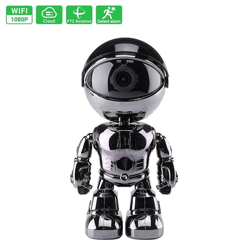1080P الذكية روبوت IP كاميرا أمنة للبيت الدورية واي فاي كاميرا اتجاهين صوت مراقبة الطفل كاميرا تلفزيونات الدوائر المغلقة روبوت تتبع السيارات