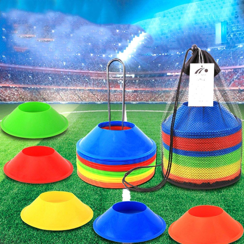 Football Training Obstacle Logo Plate Obstacle Marking Discs Marking Signpost Roadblocks SoccerTraining Supplies