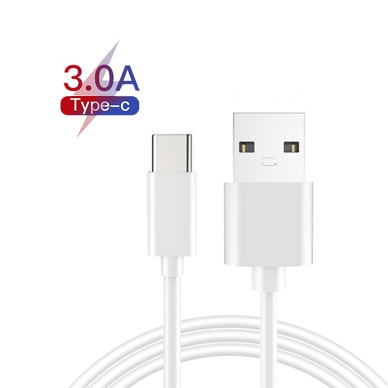 Type C USB Cable 3A Fast Charge 1m For Samsung Galaxy S10 S9 S8 Plus OnePlus 6t Fast Charging USB C