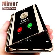 Espejo inteligente caso de teléfono para Samsung Galaxy S10 S8 S9 más A50 A40 A30 A20 A70 A20s A30s A50s M20 M30 M30s M40 S6 S7 borde