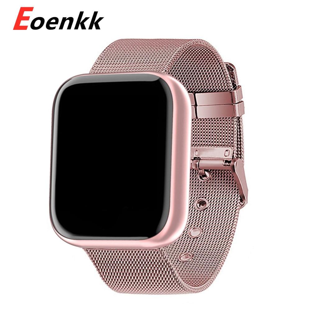 Модные умные часы 2020, женские и мужские электронные спортивные наручные часы для Android, IOS, квадратные умные часы, умные часы