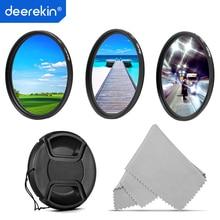 Deerekin 40.5mm polariseur CPL + UV + étoile (6x) Kit de filtre dobjectif pour appareil photo numérique 40.5mm Sony A6400 A6000 Nikon Samsung objectifs