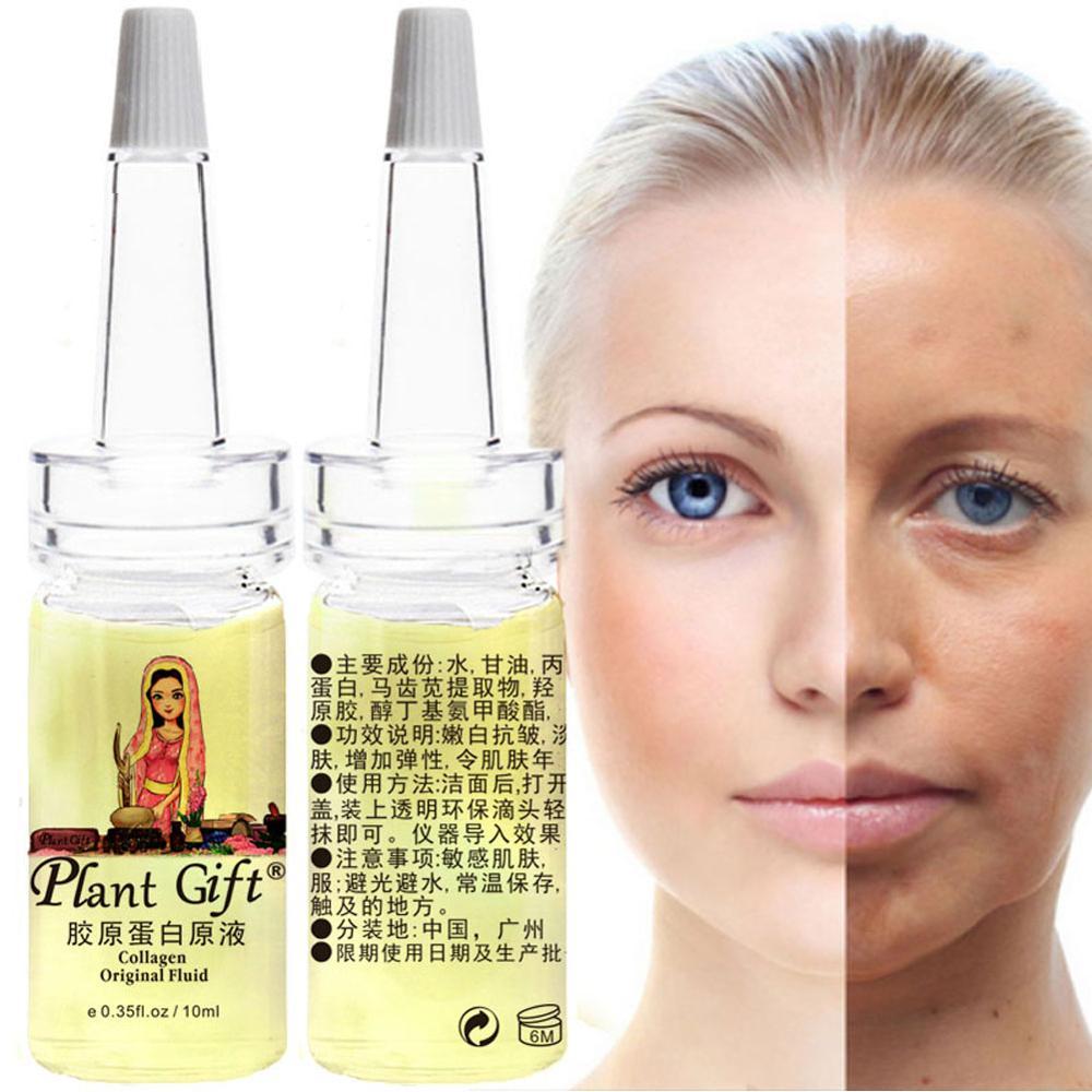 Collagen Original Fluid Eye Repair Face Care Dark Circles Anti-Aging Moisturizing Whitening 10ml*2pcs