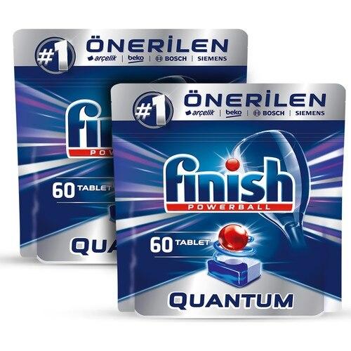 Finish Quantum 120 Tablet Dishwasher Detergent (60x2) enlarge