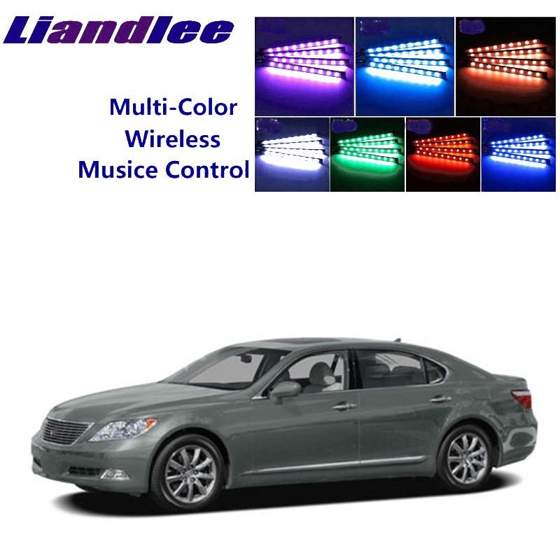 LiandLee, brillantes para coche Interior, asientos decorativos de Ambiente, luz de neón ambiental para Lexus LS 460 600h L XF40 2006 ~ 2017