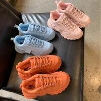 outdoor women platform chunky sneakers designers fashion lace up urban walk series tennis basket female autumn vulcanized shoes