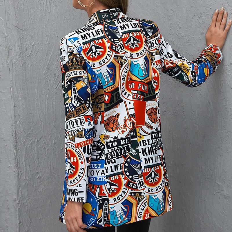 H5ae84cc69d774313a06d24b9e9b354b6X Fashion Trend Women Lapel Leopard Print Long Sleeves Suit Jacket Elegant Fall Winter Office Lady Cardigan Coat Casual Streetwear