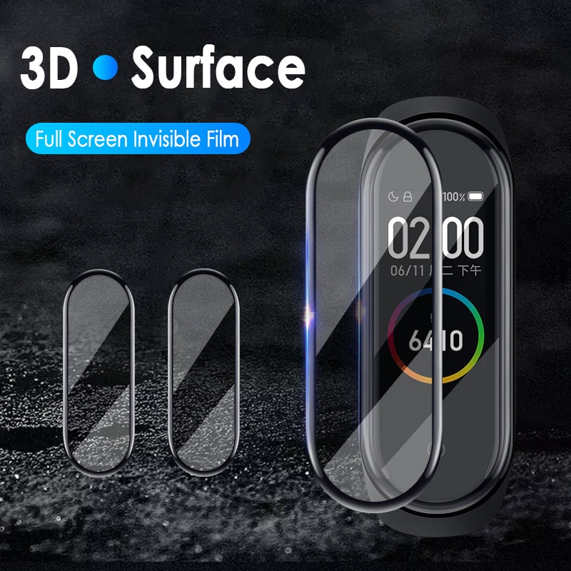 Фото - 3D Screen Protector For Xiaomi Mi Band 5 Protective Glass Miband 5 Full Curved Edge Scratch-resistant For Xiaomi Mi Band 5 Film xiaomi mi curved gaming m 34 bhr4269gl
