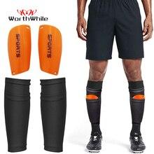 Valable 1 paire Football Football protège-tibia adolescents chaussettes tampons boucliers professionnels Legging shinguard manches équipement de protection