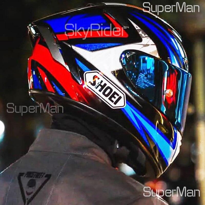 خوذة دراجة بخارية كاملة الوجه X14 ماركيز خوذة زرقاء برادلي للركوب خوذة موتوكروس للسباق