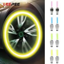 LEEPEE 2 pièces pneu de voiture bouchon de Valve lanterne décorative lampe roue de voiture lumière LED voiture moto vélo roue lumière LED a parlé lampe néon
