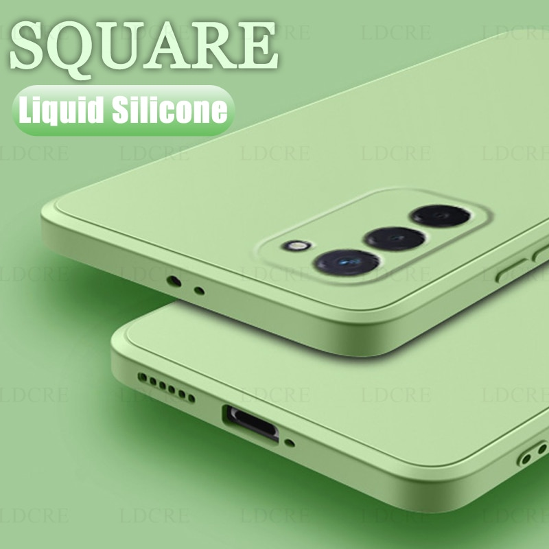 Per Samsung Galaxy A03S custodia quadrata in gomma siliconica liquida custodia antiurto per Samsung Galaxy A03S Cover per Samsung Galaxy A03S