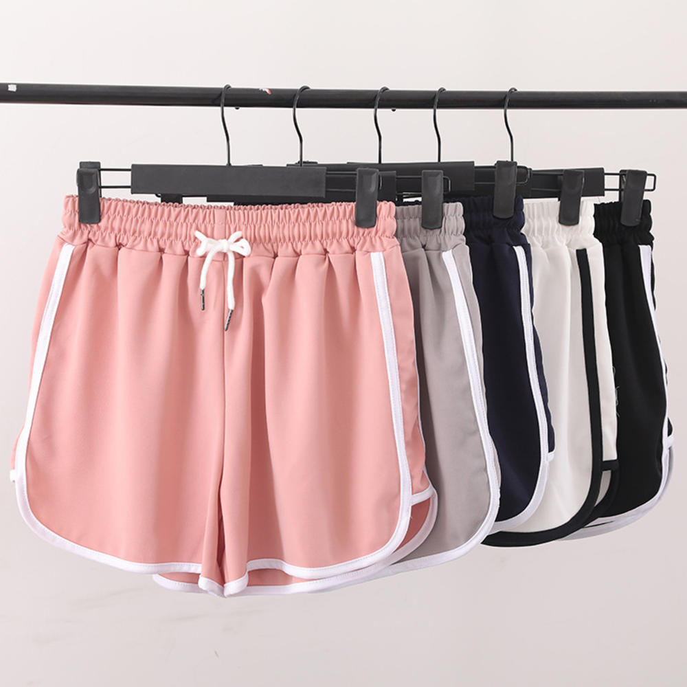¡Oferta! Pantalones cortos de verano de mezcla 2020 con cintura elástica y cintura elástica con contraste lateral, pantalones cortos informales de fiesta en la playa para mujer