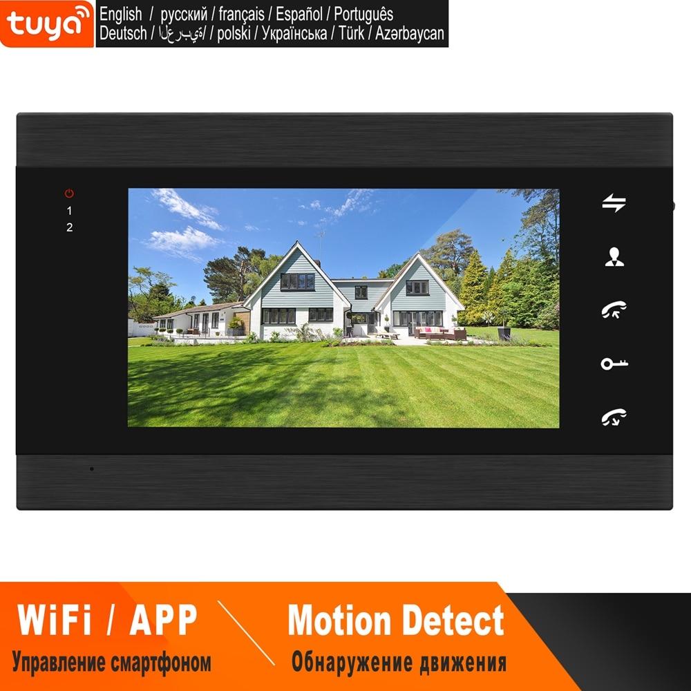 HomeFong-اتصال داخلي بالفيديو wi-fi ، شاشة 7 بوصة ، تطبيق TUYA ، التحكم في الوقت الحقيقي ، كشف الحركة