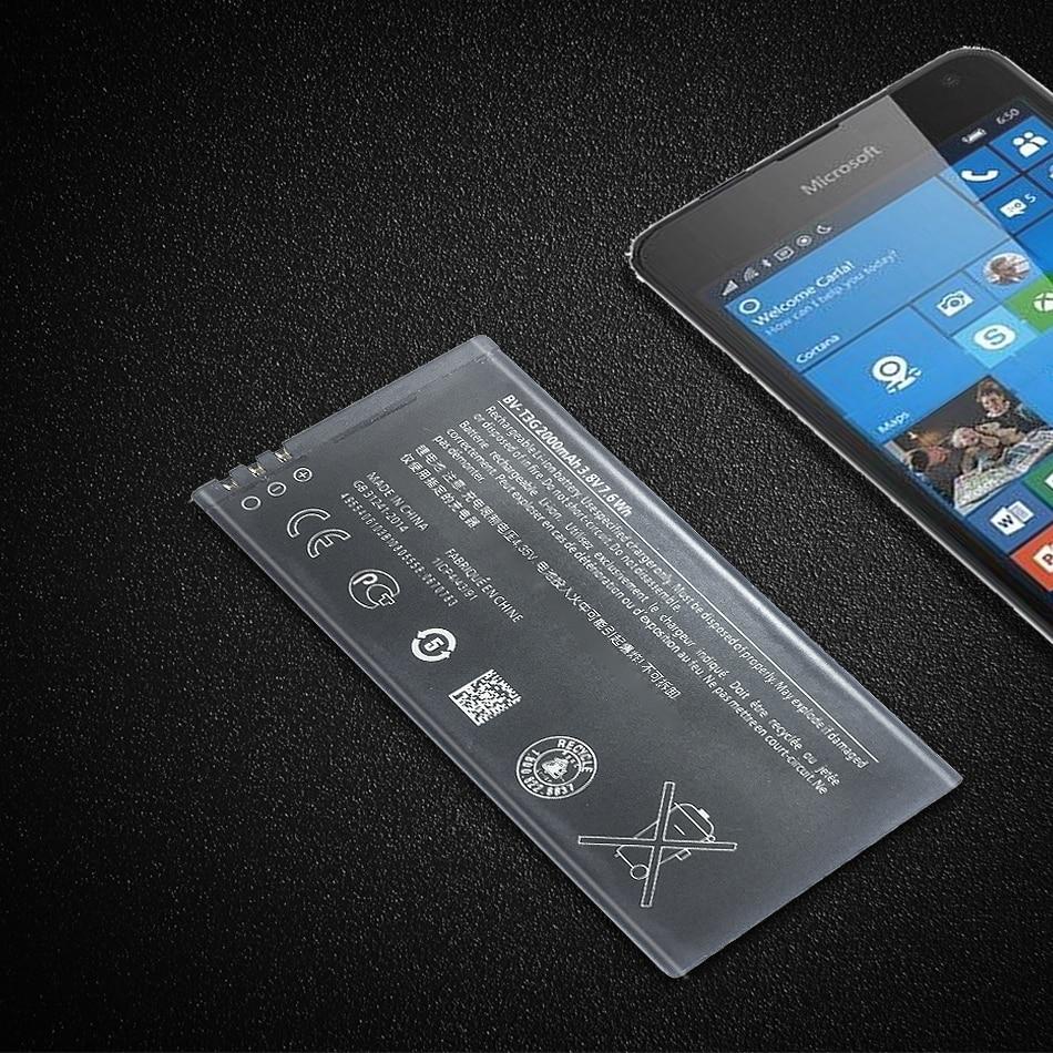 Batería BV-T3G 2000mAh para Nokia Microsoft Lumia 650 RM-1154 BVT3G BV T3G