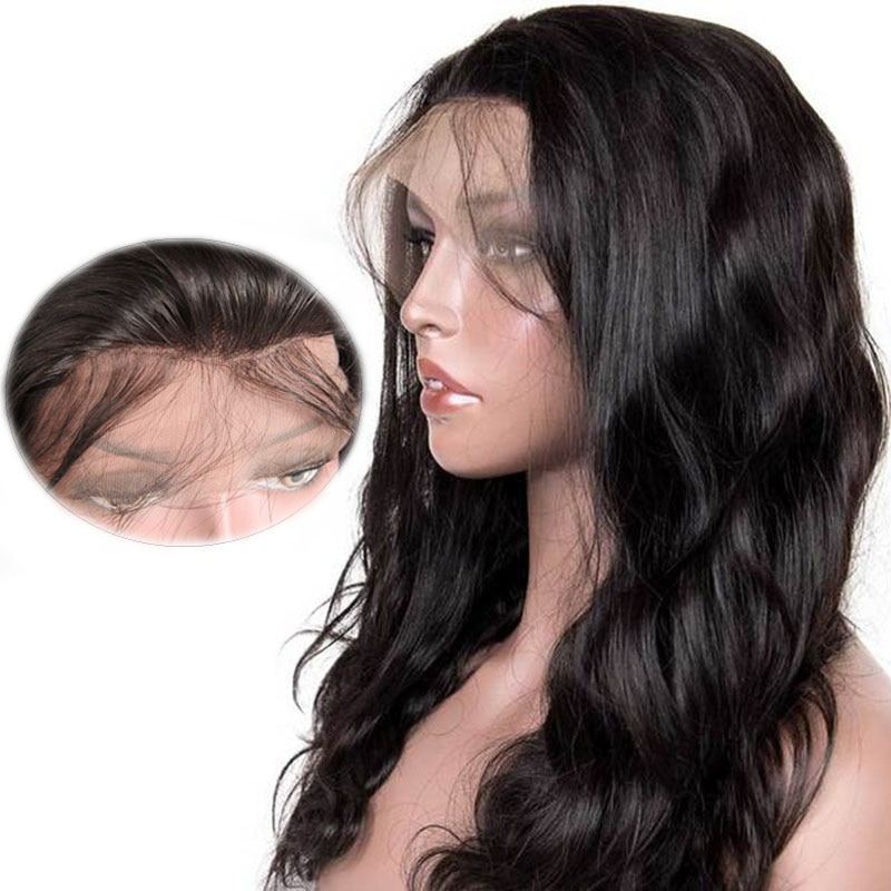 Body Waves Human Hair Wigs Human Hair Braided Lace Wigs Woman Brazilian Wig Pre Plucked And Bleached Knot Lace Front Wigs 13X4
