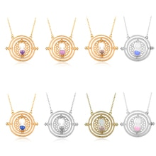 Movie     Magic School Rotatable Time Turner Necklace for Women Pendant Choker Jewellery Necklaces f