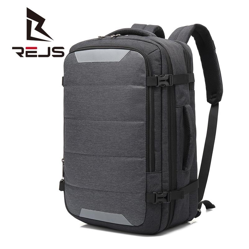REJS LANGT حقيبة ظهر للعمل الرجال اليومية 15.6 بوصة محمول حقائب الظهر مع شحن مكافحة سرقة مقاوم للماء حقيبة سفر Mochila