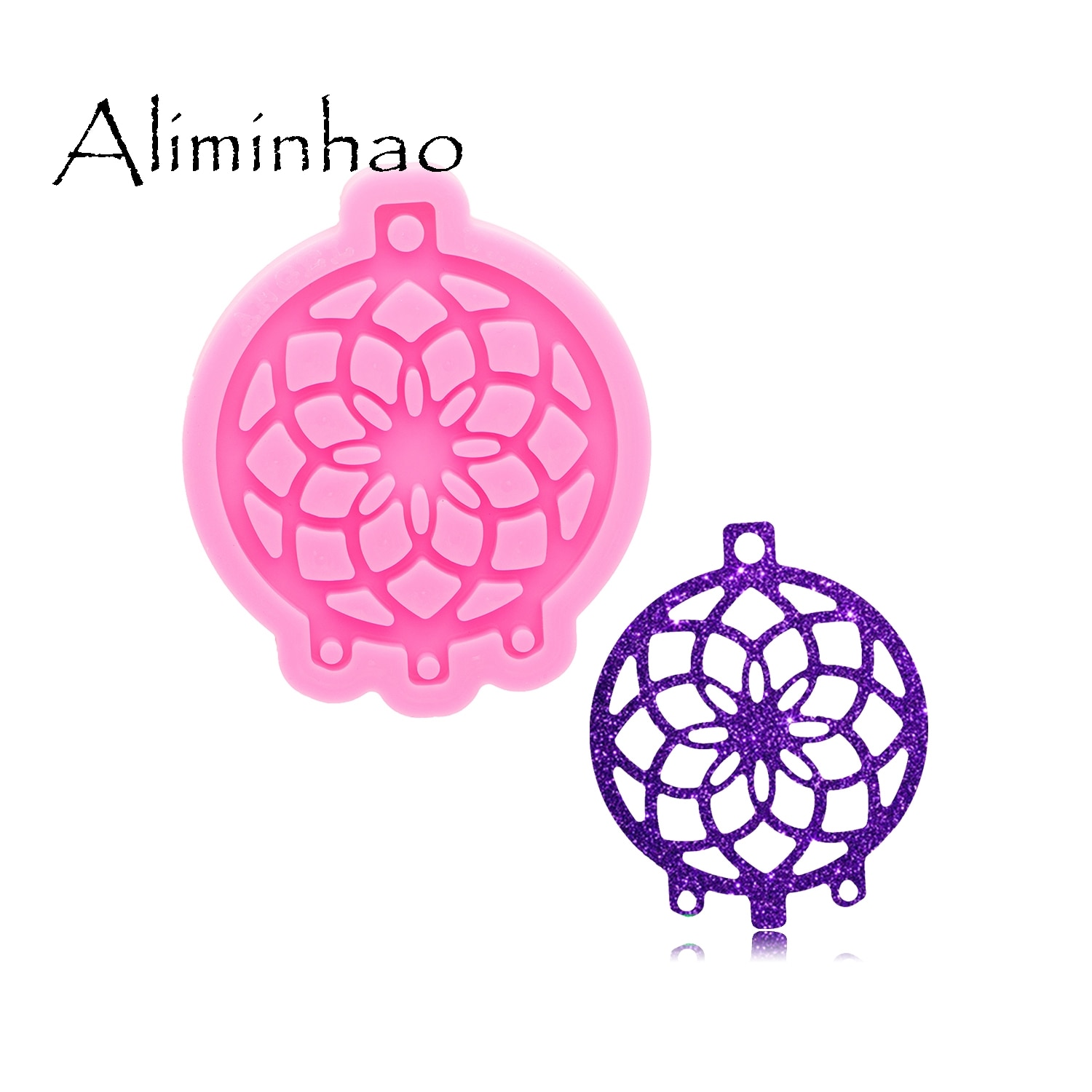 DY0822 Super Glossy Resin Dreamcatcher Mold, Silicone Mould for Craft Keychain,  Epoxy mold Jewellery Making