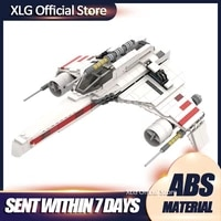 diy star movie scene e wing starfightering creative building blocks bricks collection movie compatible with star space series