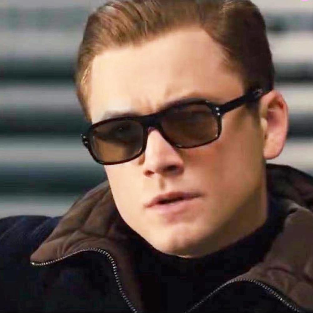 Kingsman Sunglasses for Men Vintage Polarized Mens Square Fashion Clear Frame Summer Shades