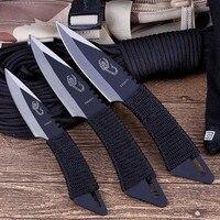 Нож Тактический карманный с фиксированным лезвием, 3 шт., для выживания, охоты, кемпинга, инструменты с ножнами