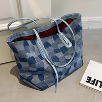 european and american womens large capacity handbags 2021 new fashion one shoulder big bag casual cloth bag commuter tote bag