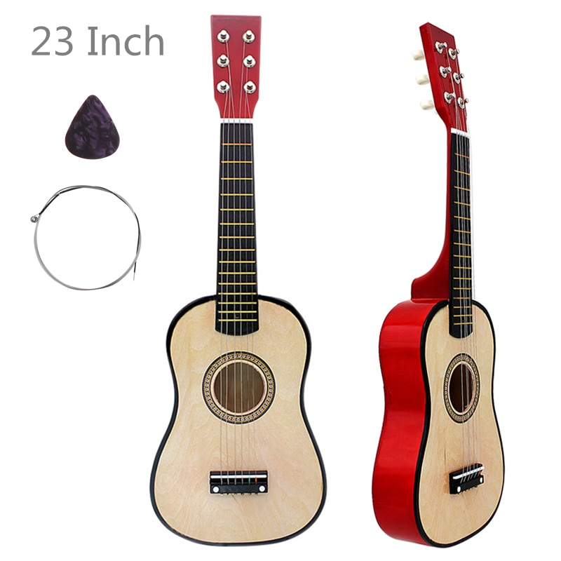 free shipping 38 inch parlor guitar solid wood acoustic guitar flame maple parlor body guitar aaa quality acoustic guitar 23 Inch 6 Strings Basswood Acoustic Guitar Wood  Guitar Music Instrument for Guitar Music Lovers Gift with Guitar Pick + String