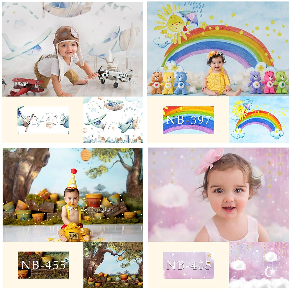 Newborn Children Photography Backdrop for Photo Studio Photocall Baby Shower Kids Birthday Party Photo Background Supplies Props