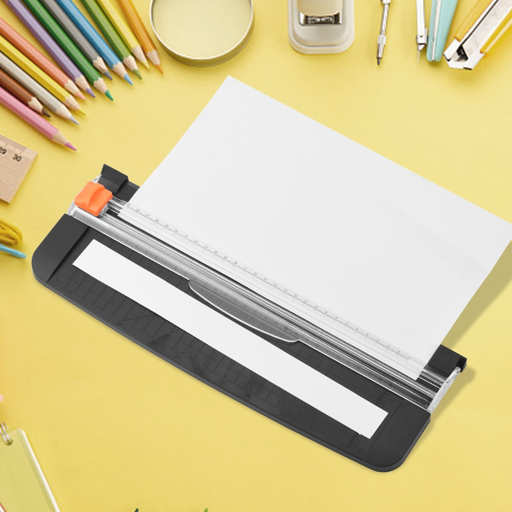 Plastic Precision Paper Cutter Universal Paper Photo Trimmer Cutting Mat Machine Office School Supplies for A4 Paper Scrapbook
