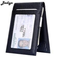 Повседневный мужской тонкий короткий клатч с отделением для карт и отделением для кредитных карт, модный портативный мужской кошелек для путешествий