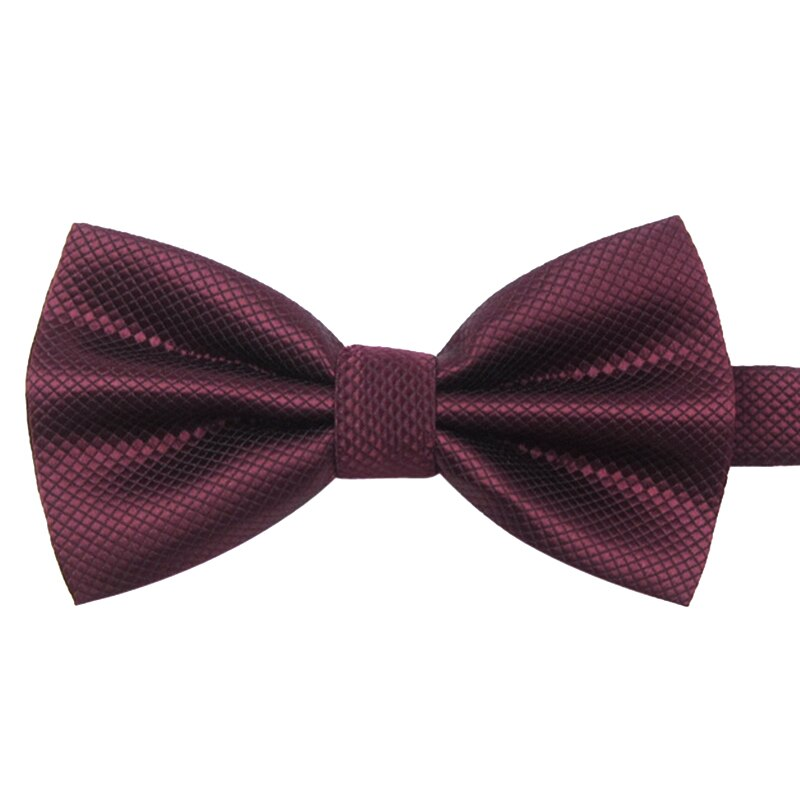 2019 New Fashion Men's Bow Ties for Wedding Double Fabric Gray Solid Color Plaid Bowtie Club Banquet Butterfly Tie with Gift Box