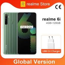 Global Version realme 6i 4GB 64GB 6.5 Mini-drop Fullscreen Helio G80 Octa Core 48MP AI Quad Camera 5000mAh Battery