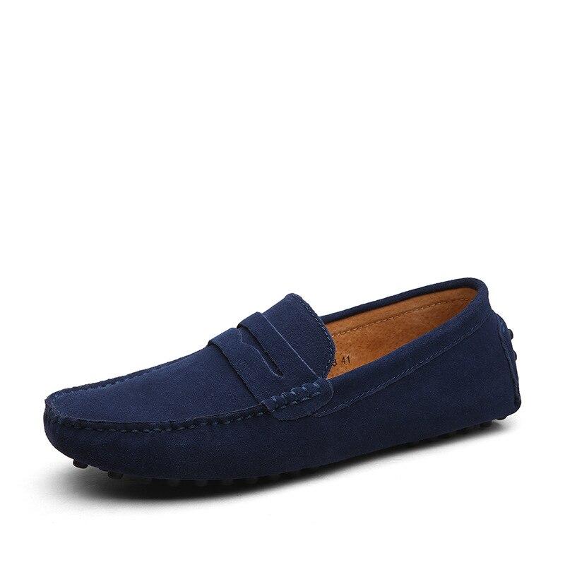 Size 49 Men Casual Shoes Fashion Men Shoes Genuine Leather Men Loafers Moccasins Slip On Men's Flats Male Driving Shoes Du5476