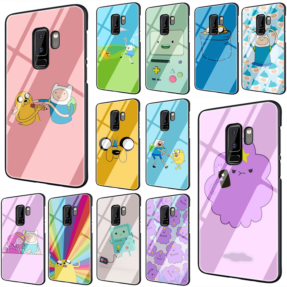 Funda de teléfono Beemo BMO Jake vidrio templado Adventure Time Cute media funda completa Samsung