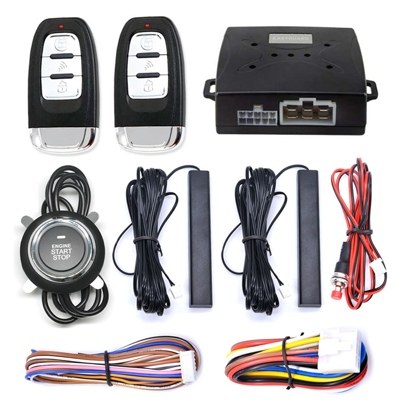 Remote Control Engine Start One Button Start Stop Keyless Entry System Car Alarm With Autostart Igni