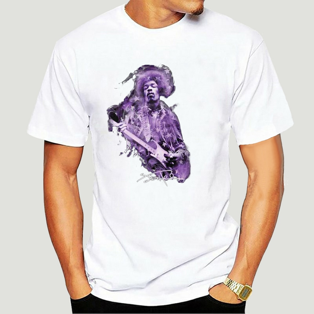 Vintage Jimmy Hendrix Purple Haze Shirt Herdruk 2907A