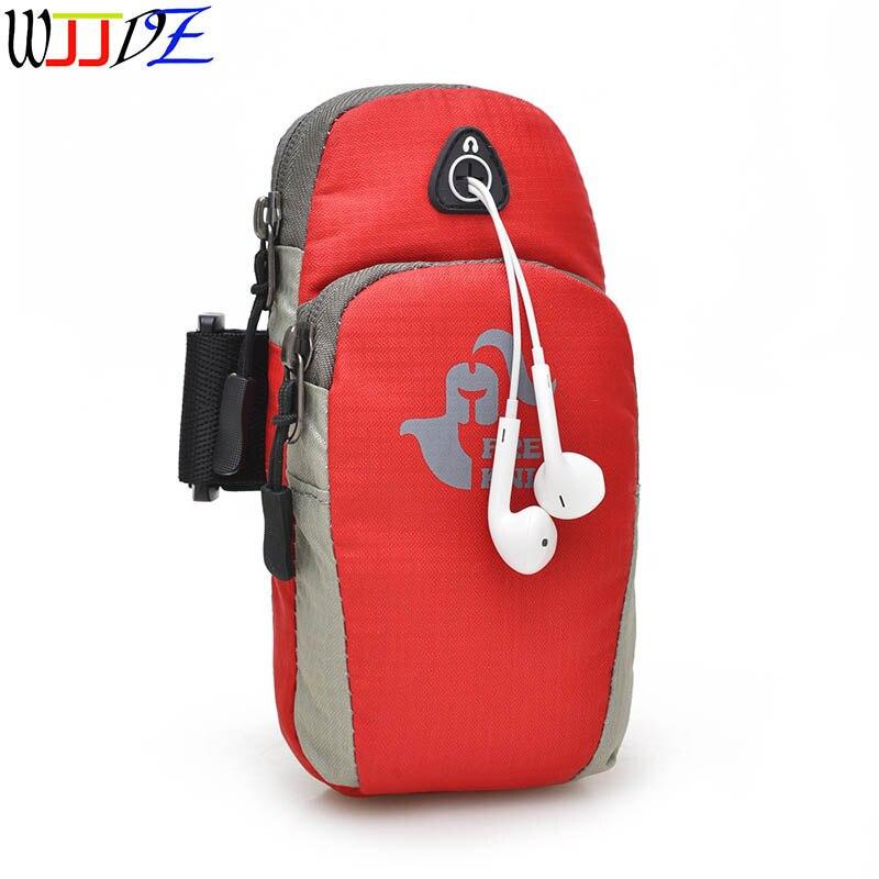 شنطة جري ذراع هاتف محمول حقيبة الركض الرياضية المحمولة مقاوم للماء في الهواء الطلق حزمة التخييم السفر حقيبة النمط الأمريكي wJJDZ