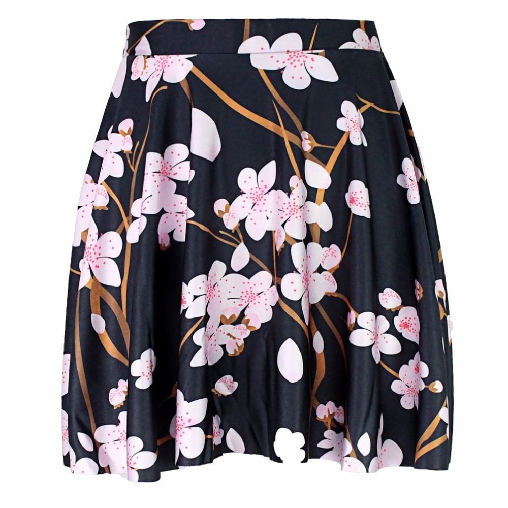 Faldas rosas florales estilo Vintage para mujer de faldas plisadas de verano...
