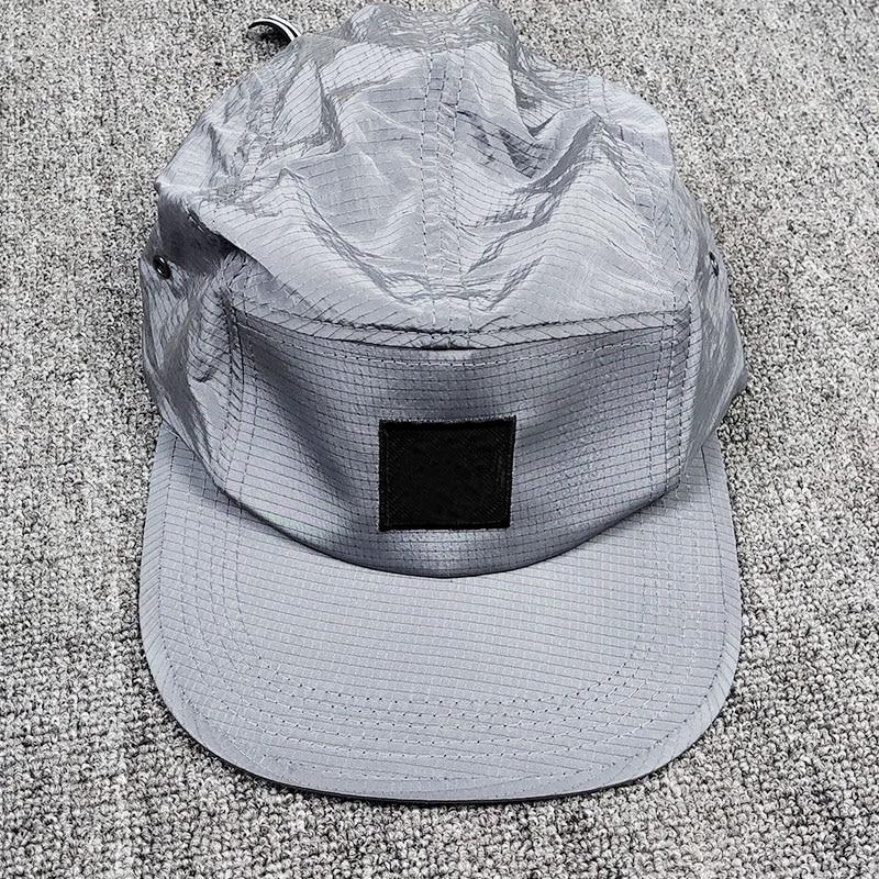 Men's Baseball Cap Metal Nylon Material Solid Color Adjustable Size