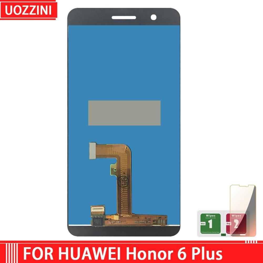 """5.5 """"para huawei honor 6 plus tela de toque lcd para huawei honor 6 mais display digitador assembléia substituição"""