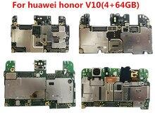 Huawei honor v 10 BKL-AL00 4 + 64gb 6 + 64GB 마더 보드, huawei honor v 10 마더 보드 용 전체 작동 100% 오리지널 잠금 해제