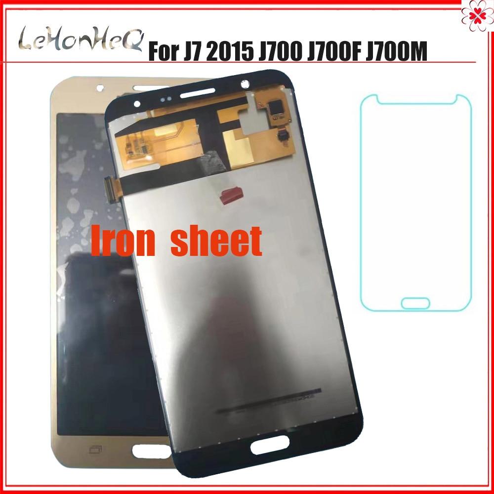 Plancha LCD para samsung Galaxy J7 2015 J700 J700M pantalla táctil digitalizador montaje para samsung J700 J700F