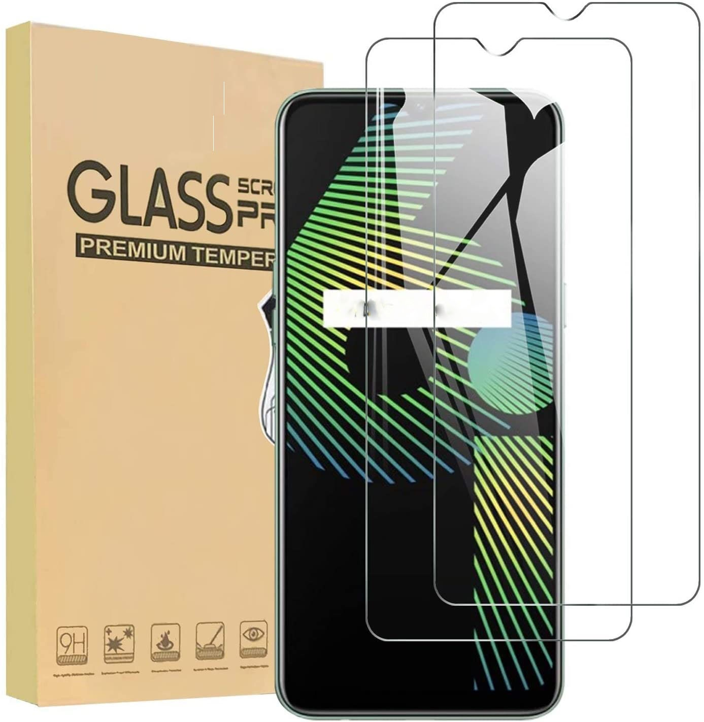 Protective Glass For Realme 7 Pro 5G 7i Screen Protector For Realme 6 Pro 6s 6i C3 C21 5 Pro 5i 5S Tempered Glass