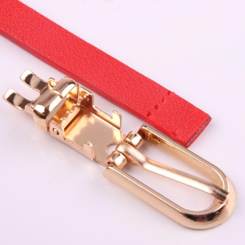 12 Colors Optional Metal Buckle Thin Belt Fashion All-Match Women's Belt Belts Women's Dress Accessories  - buy with discount