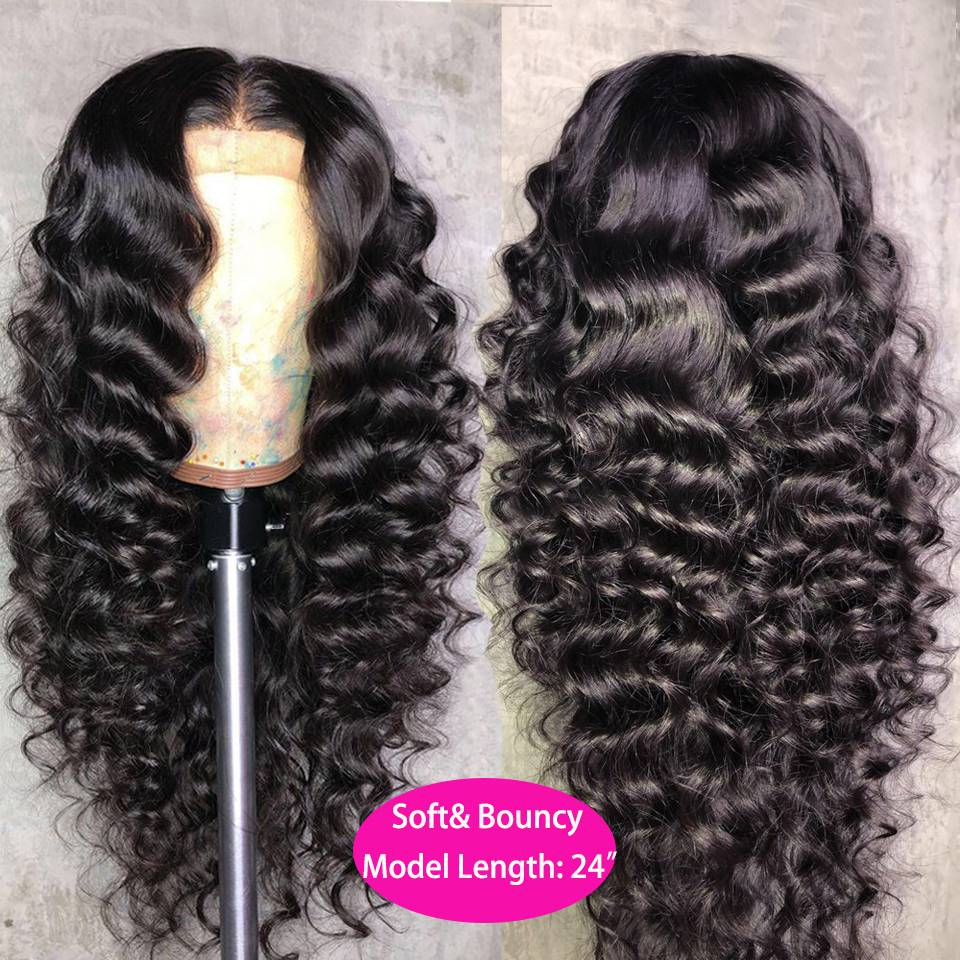 Loose Wave Wig Curly Human Hair Wig 13x4 4x4 Closure Cheap Wigs For Women Human Hair Large Size For Big Head Thick Ture Length